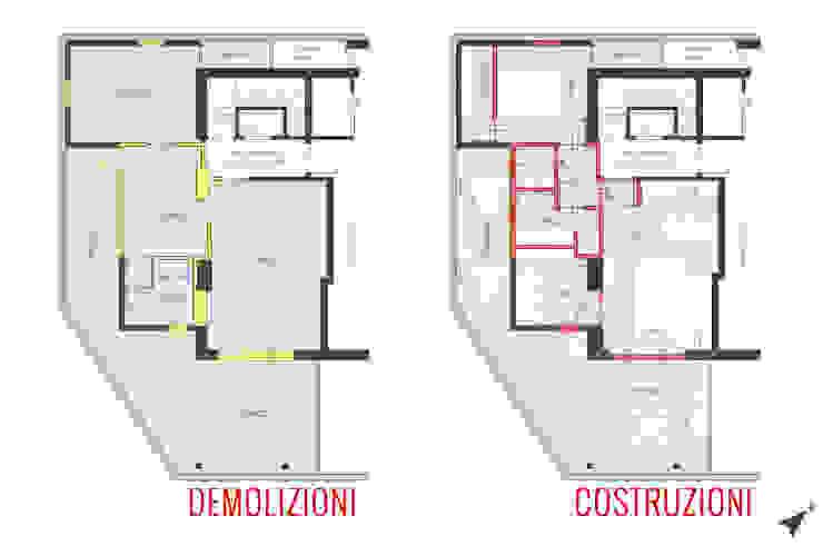 Pianta variante di Filippo Fassio Architetto Minimalista