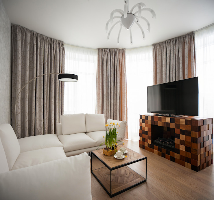 Квартира на Крестовском острове Гостиные в эклектичном стиле от Студия дизайна интерьера Маши Марченко Эклектичный