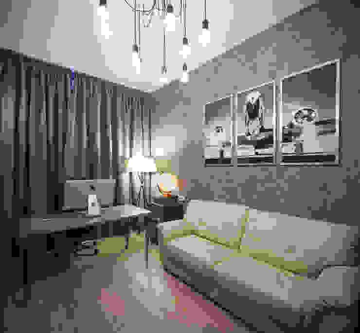 Квартира на Крестовском острове Рабочий кабинет в эклектичном стиле от Студия дизайна интерьера Маши Марченко Эклектичный
