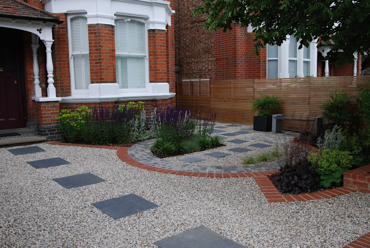West London Contemporary Front Garden Modern Garden by Christine Wilkie Garden Design Modern