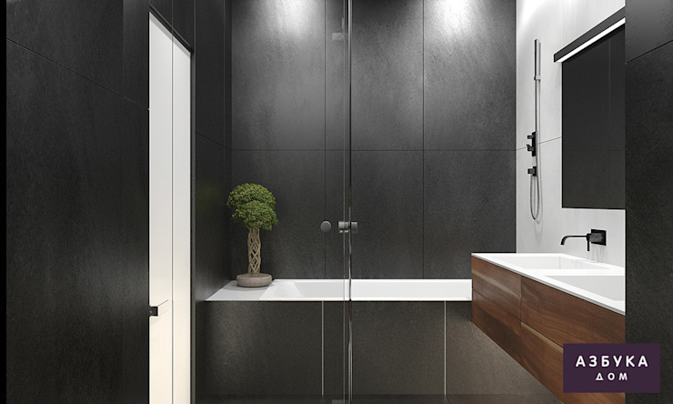 Пространство для жизни Ванная комната в стиле минимализм от Студия дизайна 'Азбука Дом' Минимализм