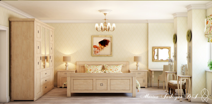 Country Living Спальня в эклектичном стиле от Marina Sarkisyan Эклектичный
