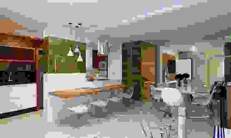 Cozinha Gourmet, Sala de Jantar e Estar Cozinhas modernas por Eliegi Ambrosi Arquitetura e Design de Interiores Moderno