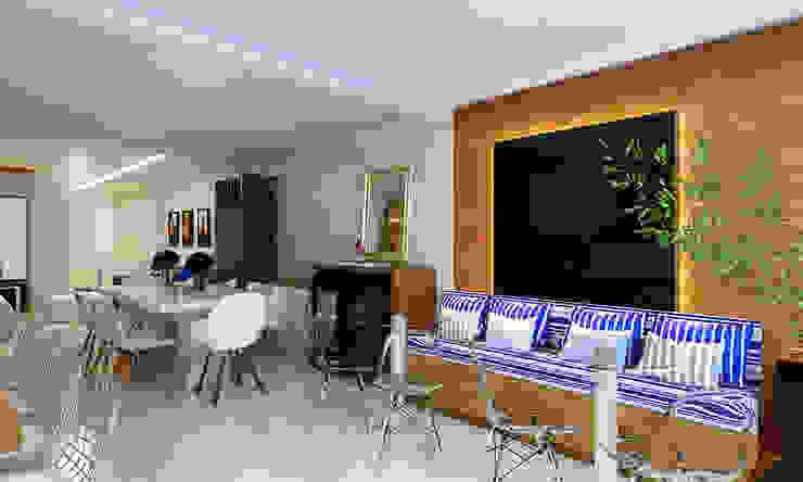 Cozinha Gourmet, Sala de Jantar e Estar Salas de jantar modernas por Eliegi Ambrosi Arquitetura e Design de Interiores Moderno