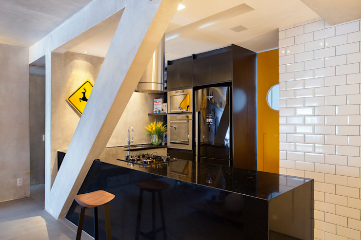 MM apartment Cozinhas industriais por Studio ro+ca Industrial