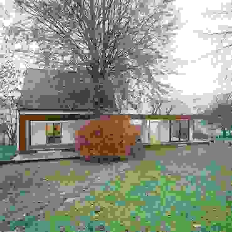 Corten Falthaus Moderne Häuser von xarchitekten Modern