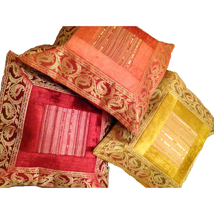 Sageer Cushions Gold/Red/Orange Indian Interiors Living roomAccessories & decoration