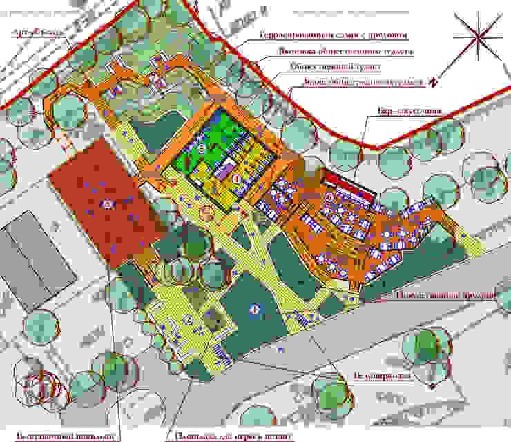 Планировка комплекса по нижнему уровню от Бюро Акимова и Топорова