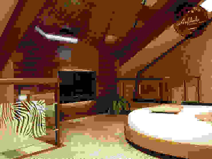 Спальня в пентхаусе Спальня в средиземноморском стиле от Anfilada Interior Design Средиземноморский