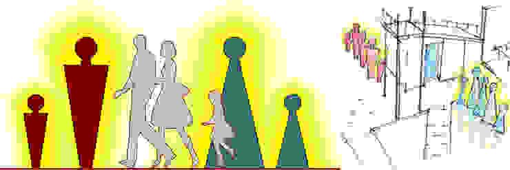 Эскиз дизайн-знака туалета с подсветкой в темное время суток от Бюро Акимова и Топорова
