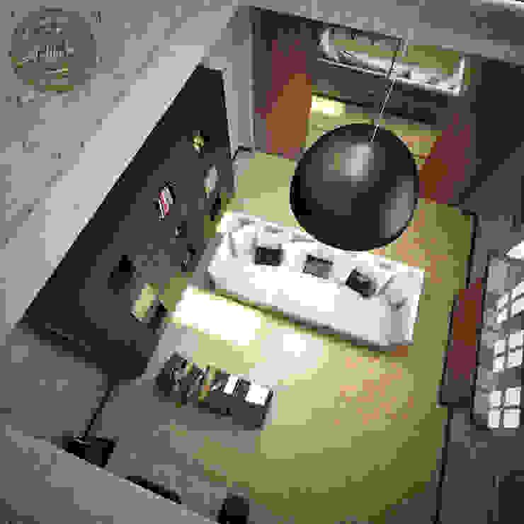 Мужская комната отдыха Гостиные в эклектичном стиле от Anfilada Interior Design Эклектичный