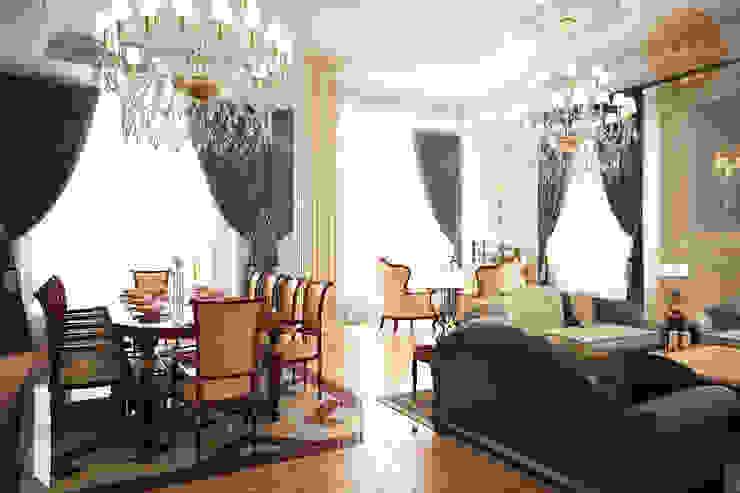 Классика в светлых тонах Гостиная в классическом стиле от Anfilada Interior Design Классический