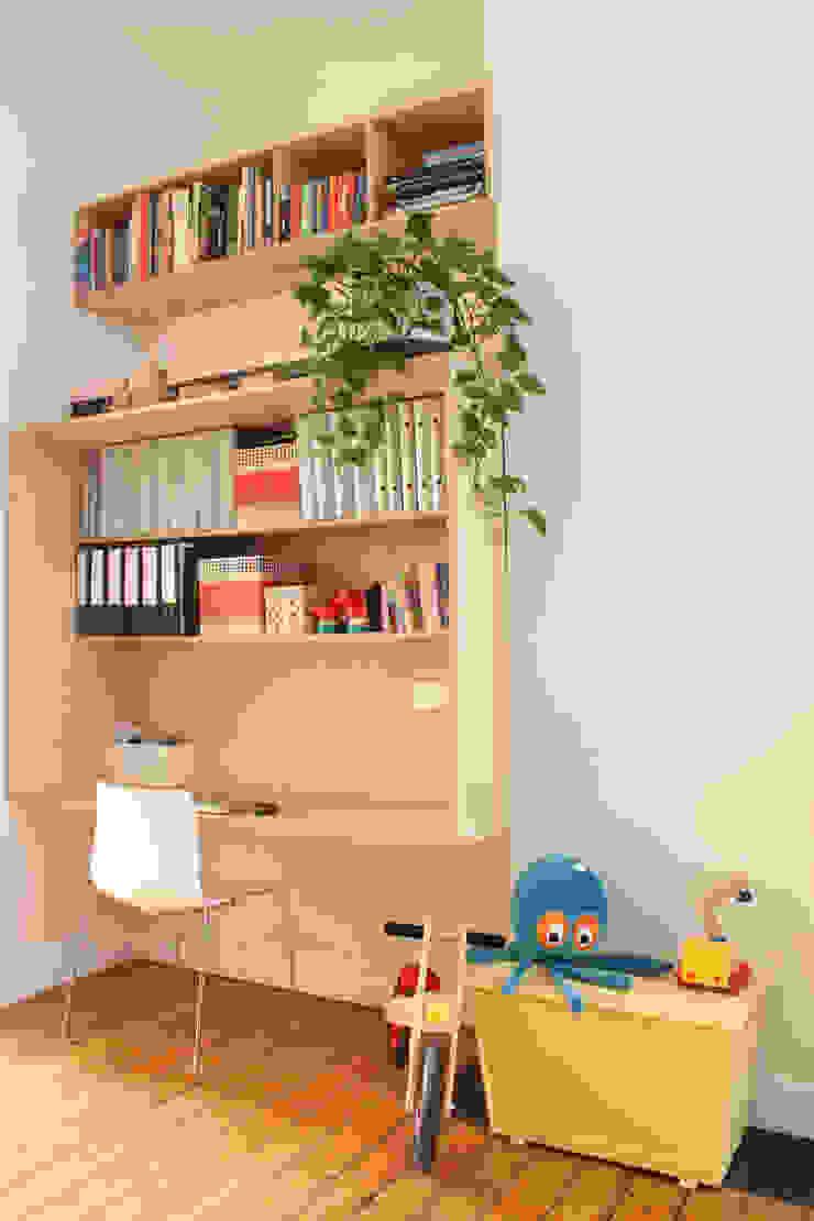 detail speel- en werkbox Moderne woonkamers van studio k Modern