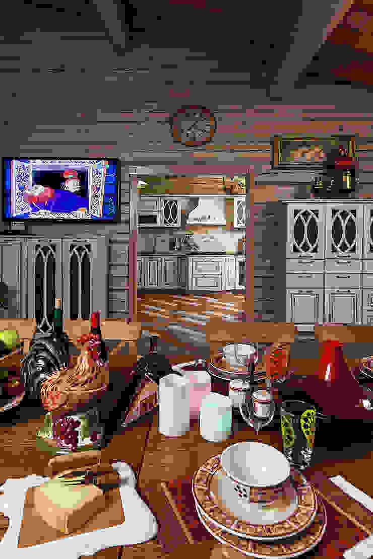 Дом Столовая комната в рустикальном стиле от Николай Карачев Рустикальный