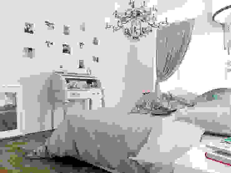Квартира в ЖК <q>Парадный квартал</q> Спальня в эклектичном стиле от Студия дизайна интерьера Маши Марченко Эклектичный
