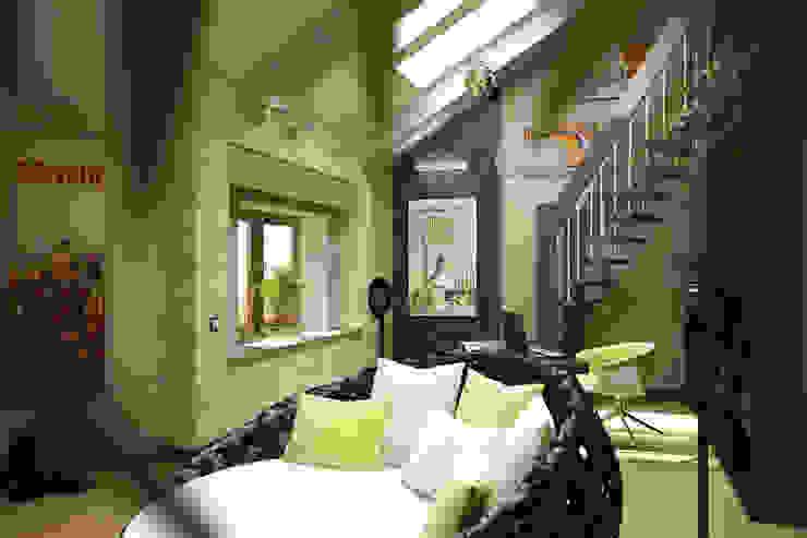 Зеленая комната Гостиные в эклектичном стиле от Anfilada Interior Design Эклектичный