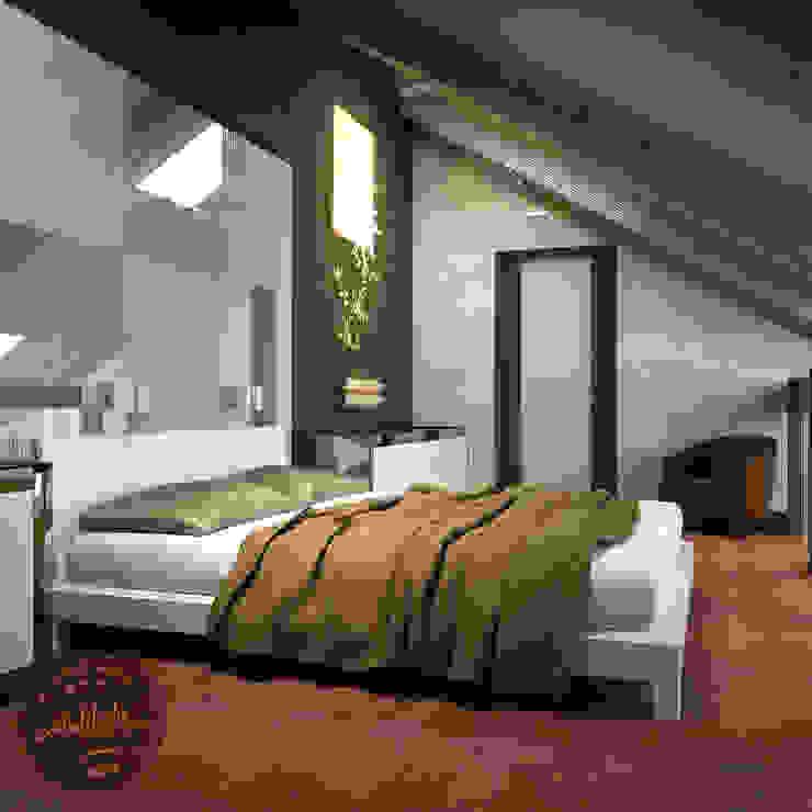 Зеленая комната Спальня в эклектичном стиле от Anfilada Interior Design Эклектичный