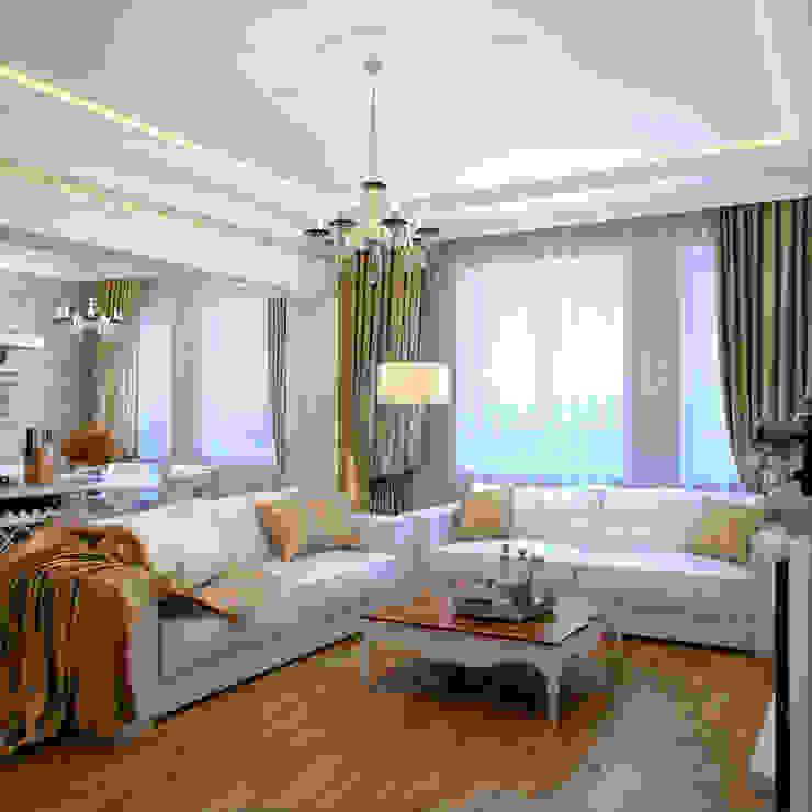 Phòng khách phong cách chiết trung bởi Студия дизайна интерьера Маши Марченко Chiết trung