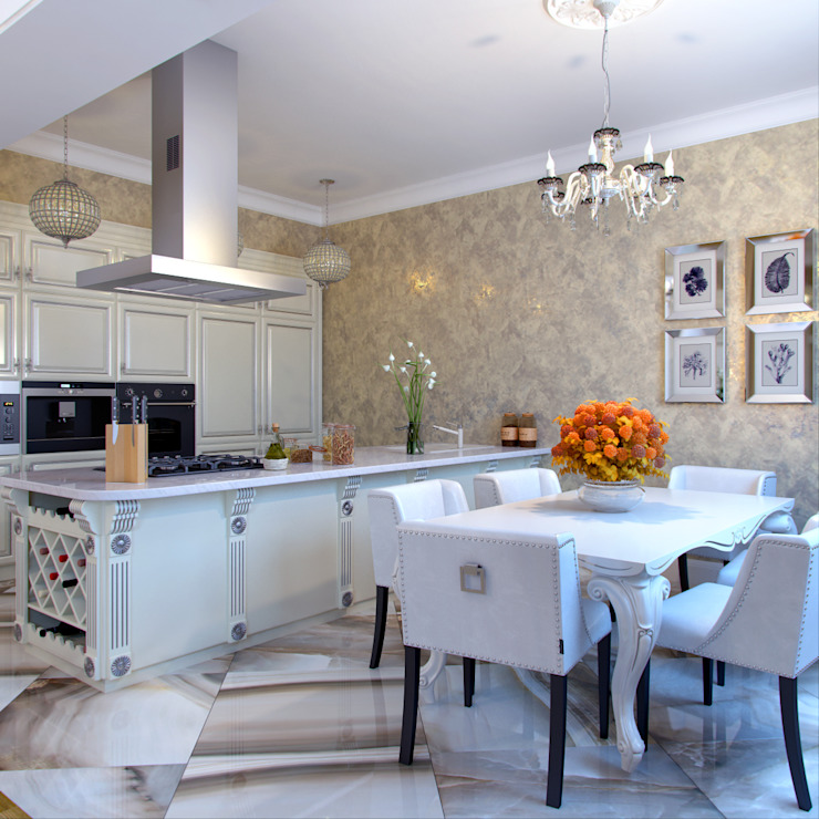 Eclectic style dining room by Студия дизайна интерьера Маши Марченко Eclectic