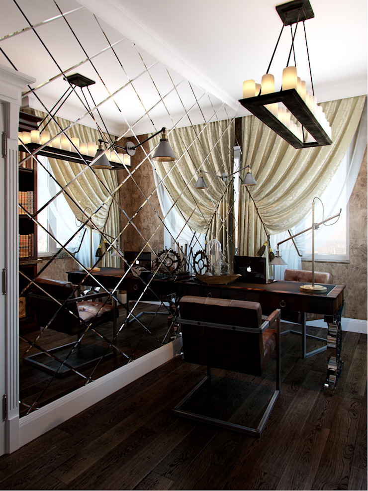 Eclectic style study/office by Студия дизайна интерьера Маши Марченко Eclectic