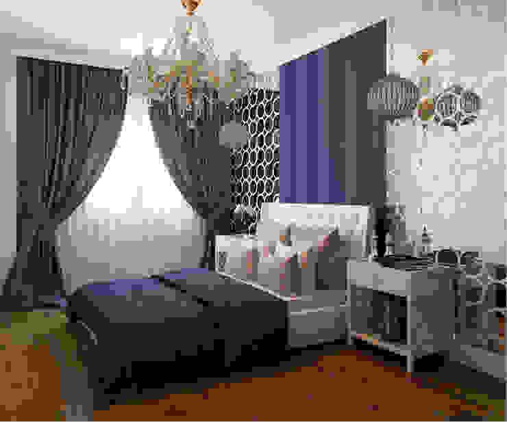Phòng ngủ phong cách chiết trung bởi Студия дизайна интерьера Маши Марченко Chiết trung