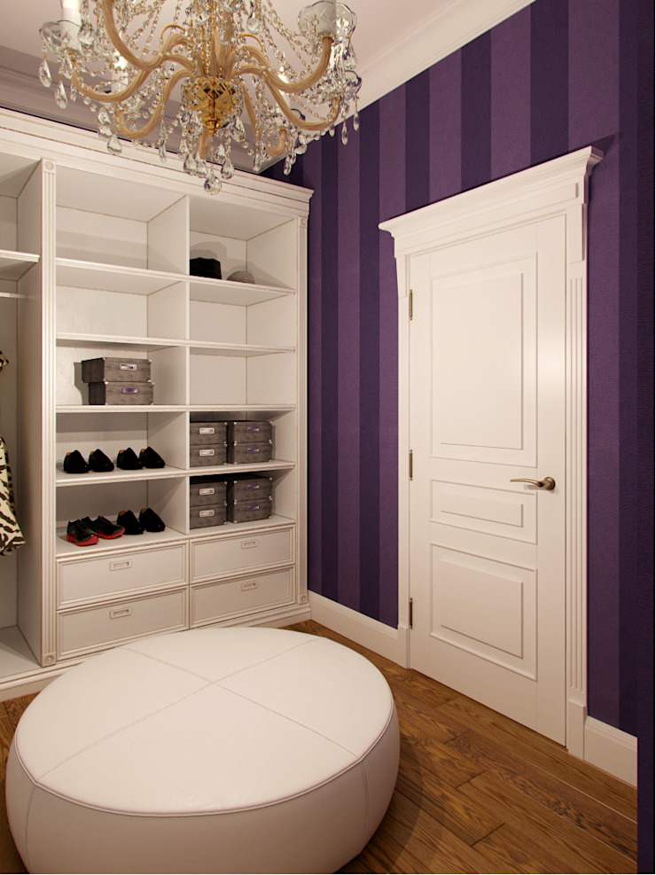 Eclectic style dressing room by Студия дизайна интерьера Маши Марченко Eclectic