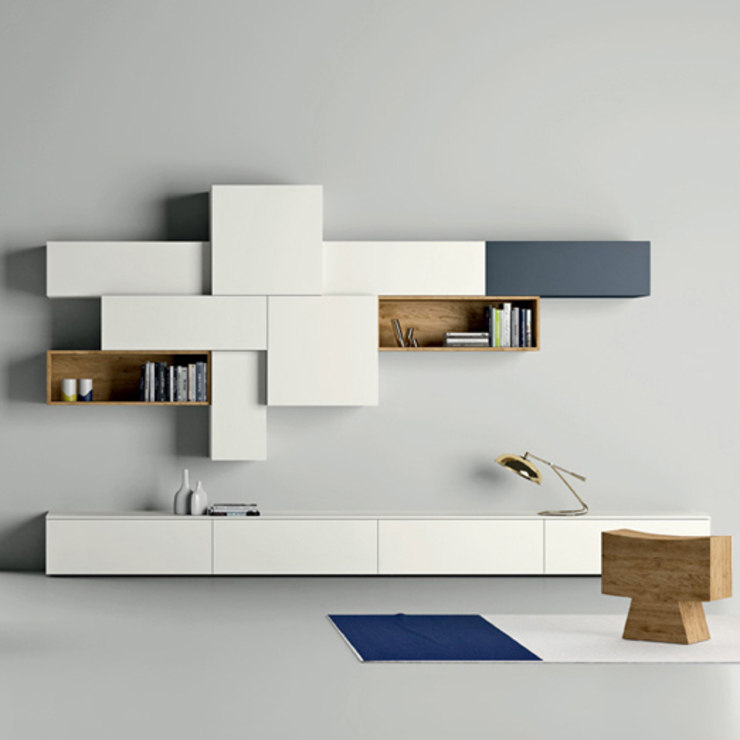 'Slim II' TV/Media unit by Dall'Agnese de My Italian Living Moderno