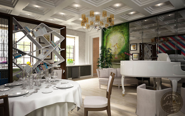 Salones de estilo colonial de Anfilada Interior Design Colonial