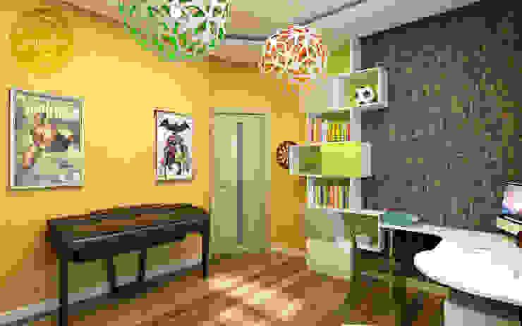 Детская с солнечным настроением Детская комнатa в скандинавском стиле от Anfilada Interior Design Скандинавский