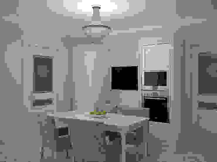 Квартира в мансарде на Петроградской стороне Кухни в эклектичном стиле от Студия дизайна интерьера Маши Марченко Эклектичный