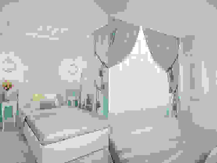 Квартира в мансарде на Петроградской стороне Спальня в эклектичном стиле от Студия дизайна интерьера Маши Марченко Эклектичный