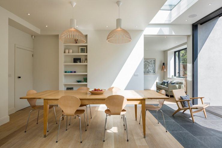Muswell Hill House 1, London N10 모던스타일 다이닝 룸 by Jones Associates Architects 모던