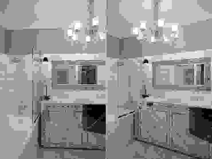 Квартира в мансарде на Петроградской стороне Ванная комната в эклектичном стиле от Студия дизайна интерьера Маши Марченко Эклектичный