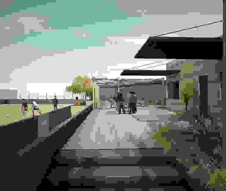 DEPORTIVO TEPEPAN Escuelas de estilo moderno de gOO Arquitectos Moderno