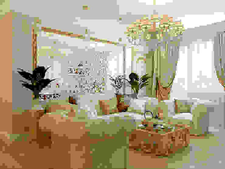Квартира на ул.Звездная Гостиная в классическом стиле от Студия дизайна интерьера Маши Марченко Классический