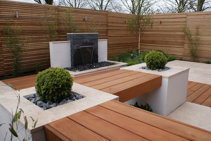 Extended living space - Manchester od Hannah Collins Garden Design Nowoczesny