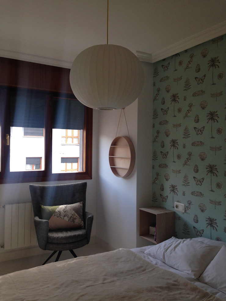 vivienda en Durango ( Vizcaya ) Dormitorios de estilo escandinavo de cuandodavidllegoadurango Escandinavo