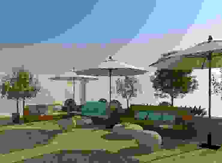 Zona de descanso y relax en el jardín Gastronomía de estilo rural de Buena Pieza Interiorismo Rural
