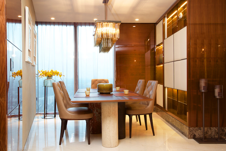 Penthouse apartment, Vauxhall Modern dining room by Keir Townsend Ltd. Modern