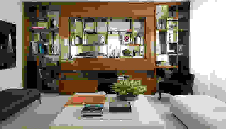 Ruang Keluarga Modern Oleh Rafael Zalc Arquitetura e Interiores Modern