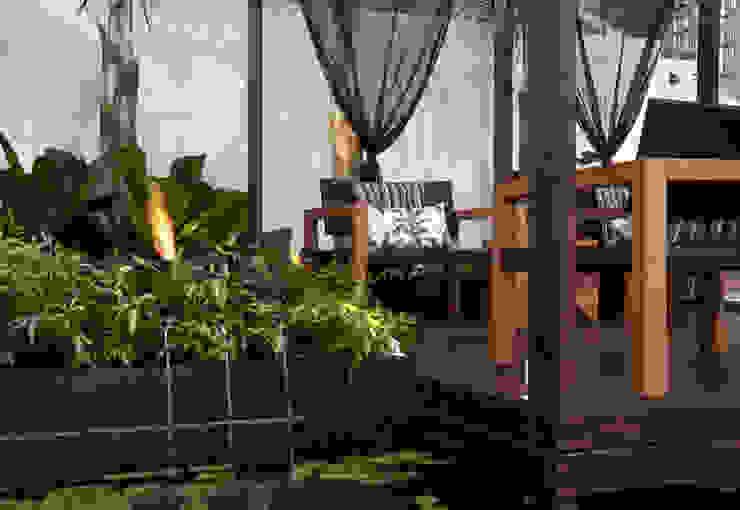 Jardins  por Folha Paisagismo, Moderno