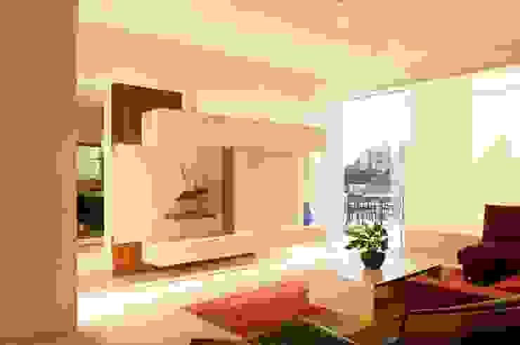 Salas / recibidores de estilo  por Gantous Arquitectos