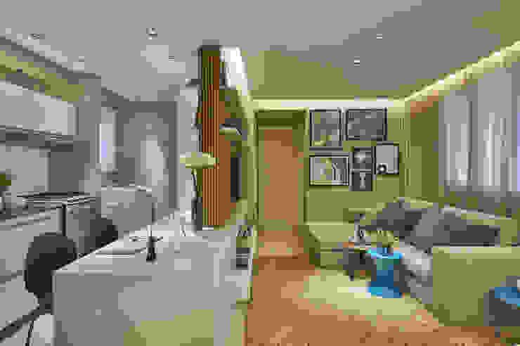 Ruang Keluarga Modern Oleh Fernanda Sperb Arquitetura e interiores Modern