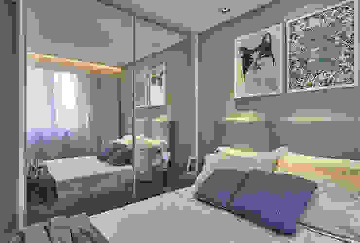 Fernanda Sperb Arquitetura e interiores Modern style bedroom