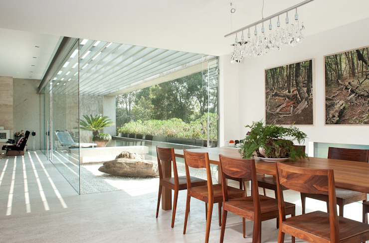 Polanco Penthouse Modern Dining Room by Gantous Arquitectos Modern