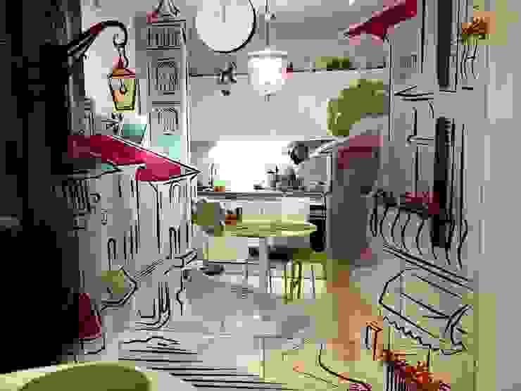 Зеркало на кухне Кухни в эклектичном стиле от 33dodo Эклектичный