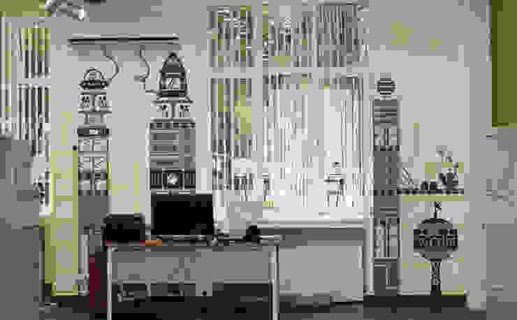 Оформление стен офиса фирмы <q>ДИКОМ</q> Офисы и магазины в эклектичном стиле от 33dodo Эклектичный