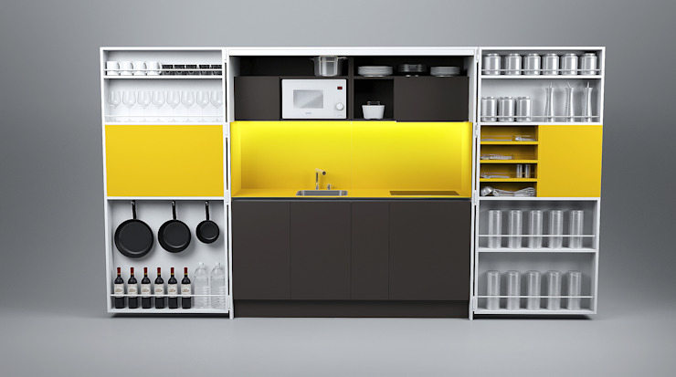 Pop-up kitchen PIA - Web (KL 257S UIFCW) di Dizzconcept Moderno