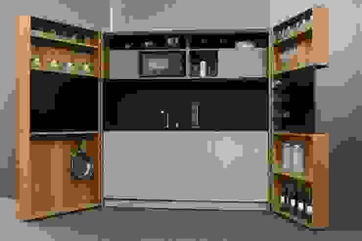 Pop-up kitchen PIA - Wood (KL 257S NDET) de Dizzconcept Moderno