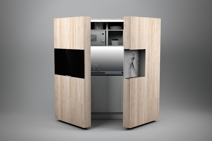 Pop-up kitchen PIA - Wood (KL 257T OBAS): modern  von Dizzconcept ,Modern